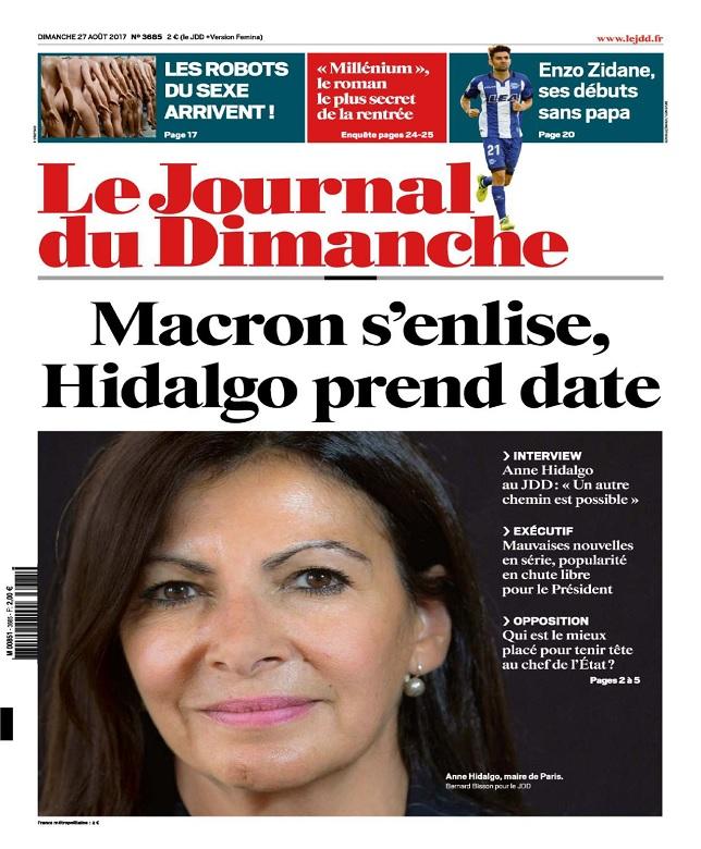 Le Journal Du Dimanche N°3685 Du 27 Août 2017