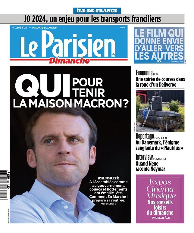 Le Parisien Du Dimanche 27 Août 2017