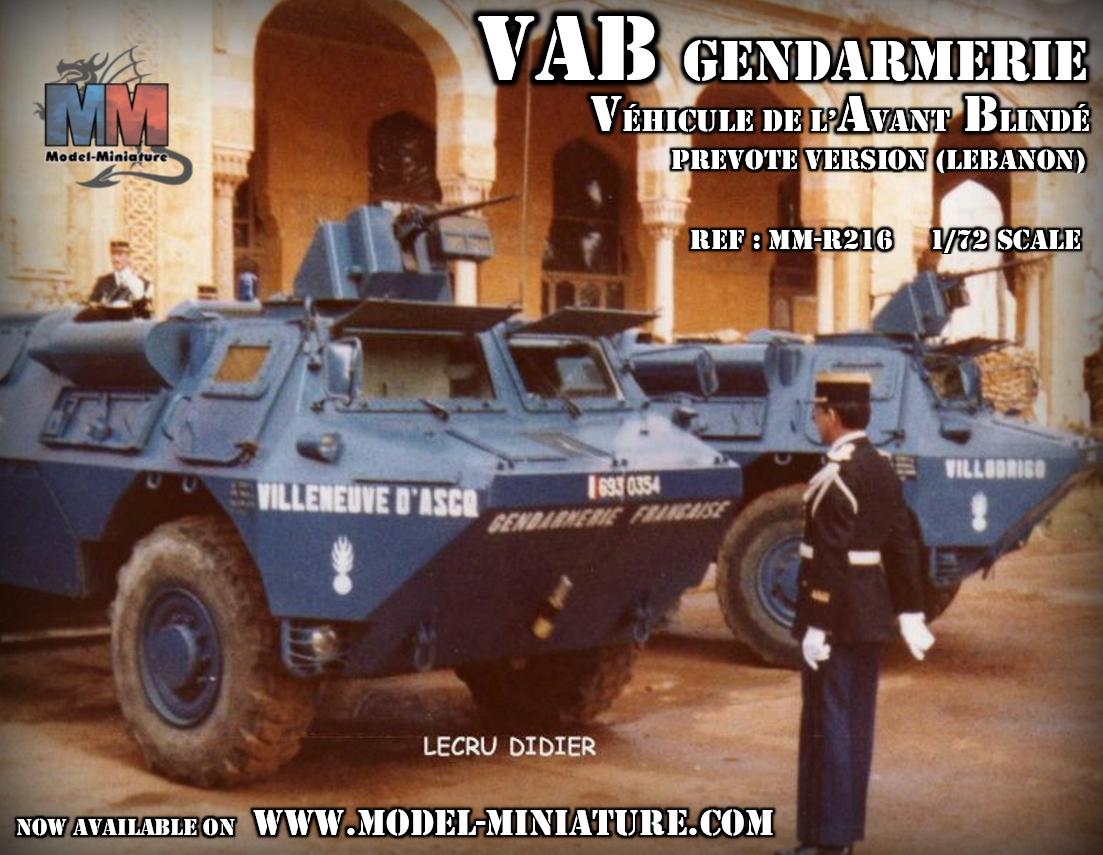 vab gendarmerie liban lebanon prevote model maquette 1.72 scale 7.62mm miniature véhicule avant blindé renault