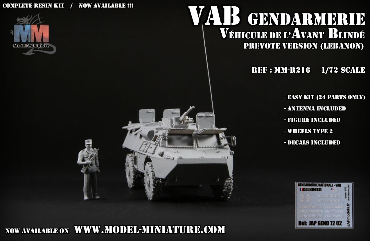 vab gendarmerie liban lebanon prevote model maquette 1.72 scale 7.62