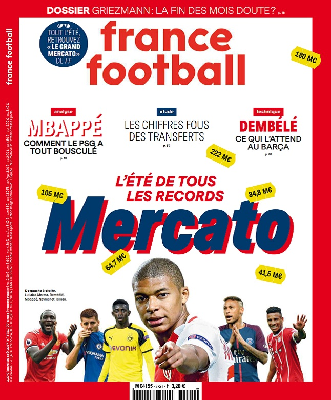 télécharger France Football N°3721 Du 29 Août 2017