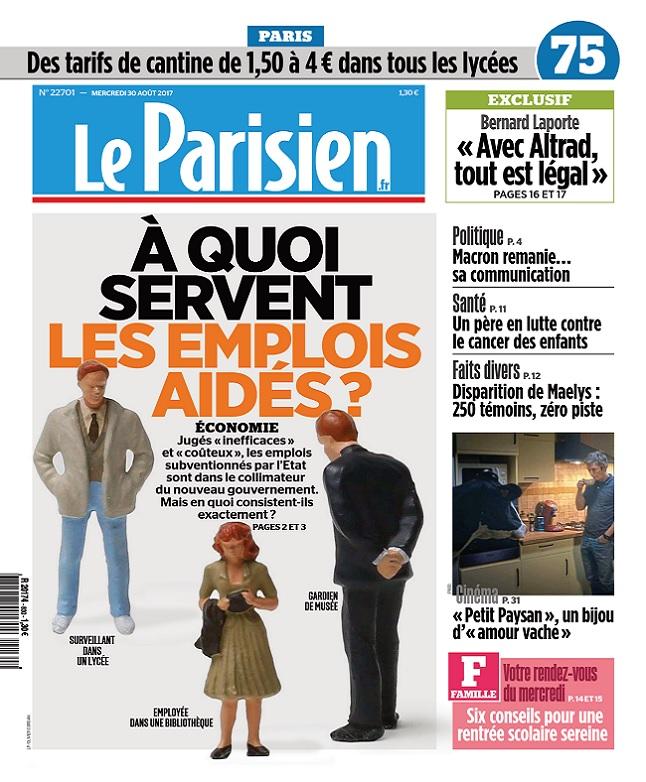 télécharger Le Parisien Du Mercredi 30 Août 2017