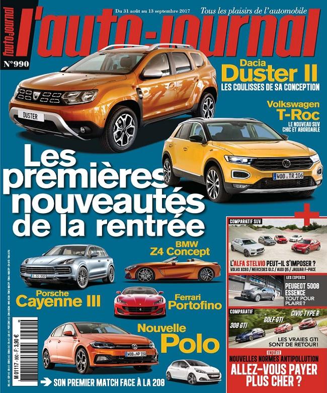 télécharger L'Auto-Journal N°990 Du 31 Août 2017