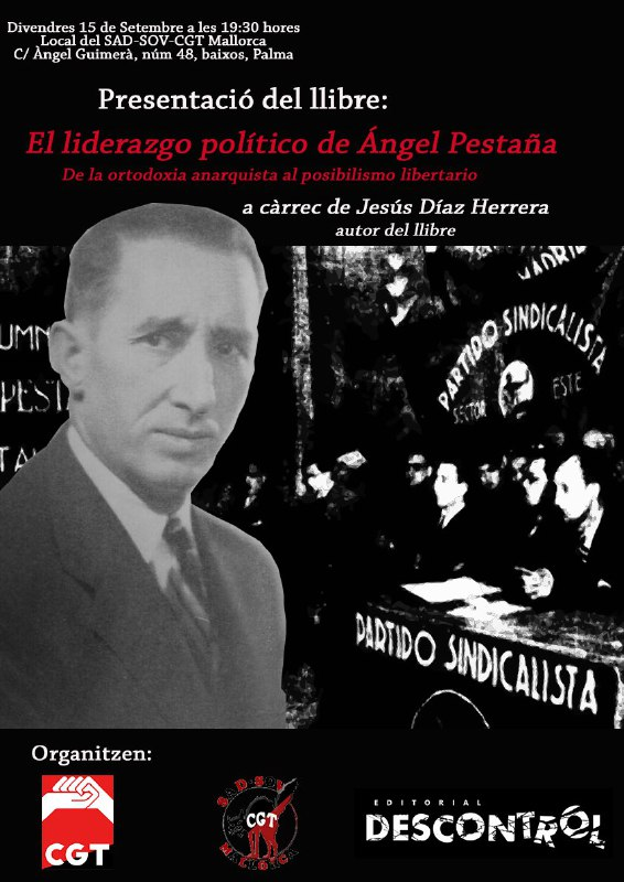 """Presentació del llibre: """"El liderazgo político de Ángel Pestaña"""" (15-09-17)"""