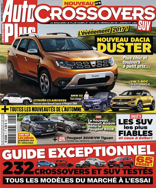Auto Plus Hors Série Crossovers N°6 - Automne 2017