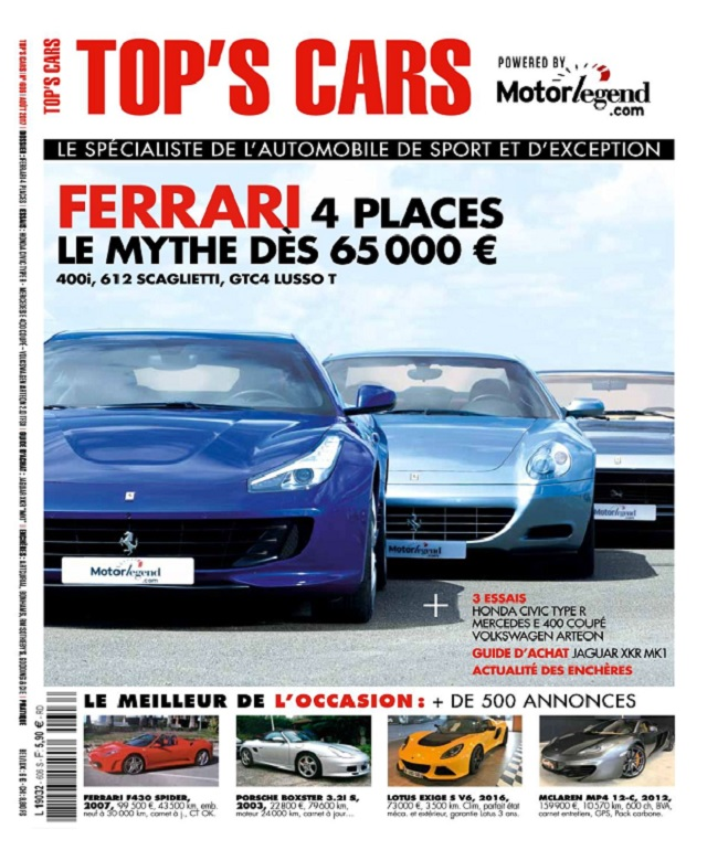 Top's Cars Magazine N°606 - Aout 2017