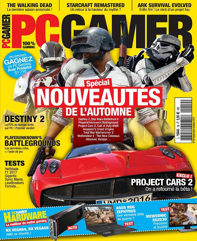télécharger PC Gamer N°19 - Septembre-Octobre 2017