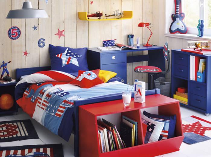 chambre bleu et blanc rouge deco chambre garcon bleu blanc rouge ...