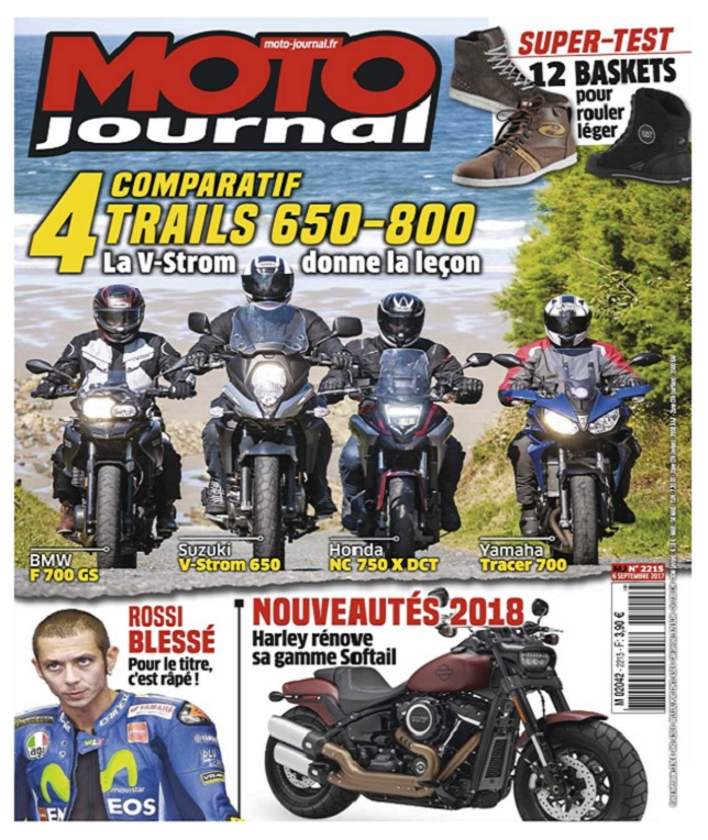Moto Journal N°2215 Du 6 Septembre 2017