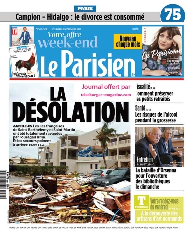 Le Parisien + Magazine + 3 Départements Du Vendredi 8 Septembre 2017