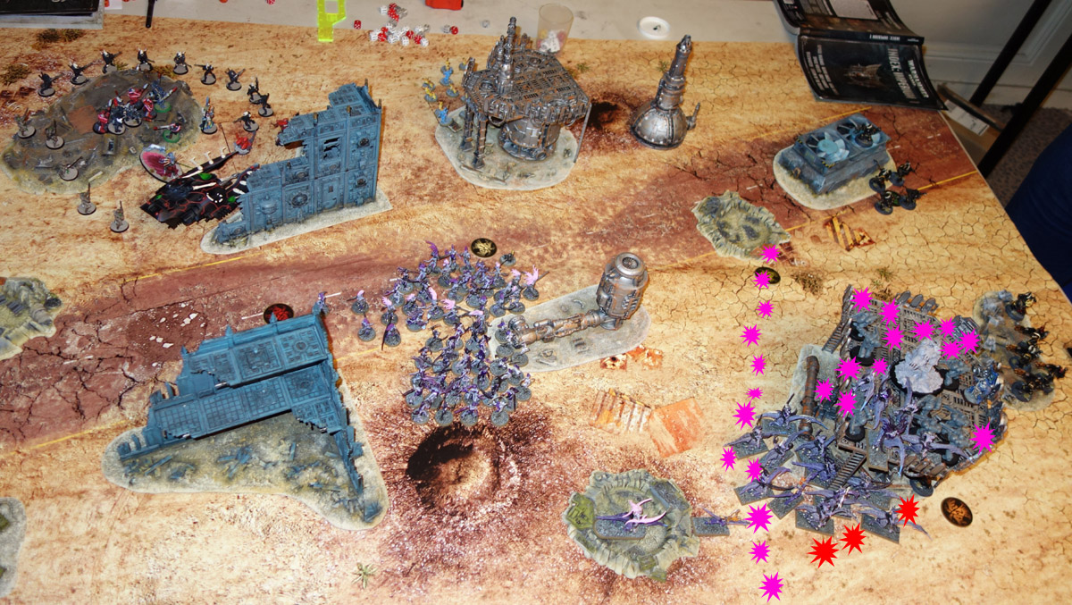 [40K] Daemons + Ynnari Vs. Ultramarines + SMC 170910012538483502