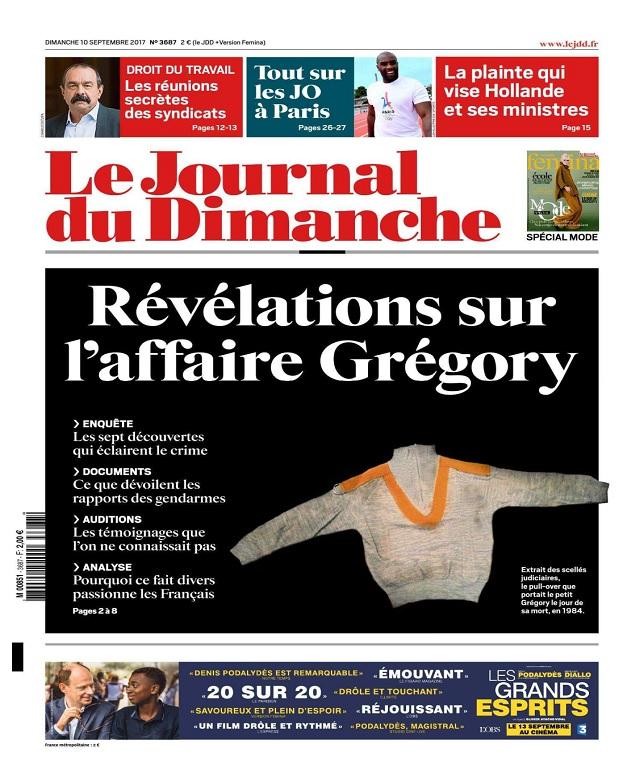 Le Journal Du Dimanche N°3687 Du 10 Septembre 2017
