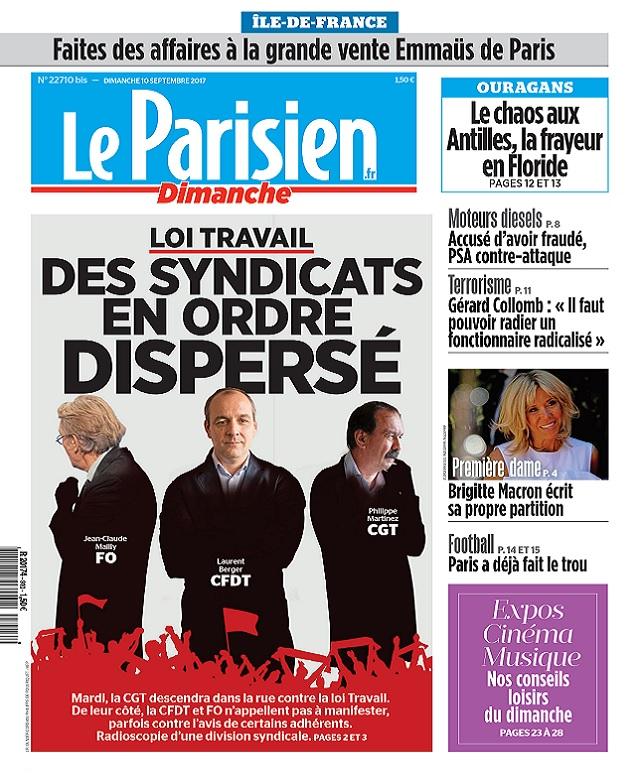 Le Parisien Du Dimanche 10 Septembre 2017