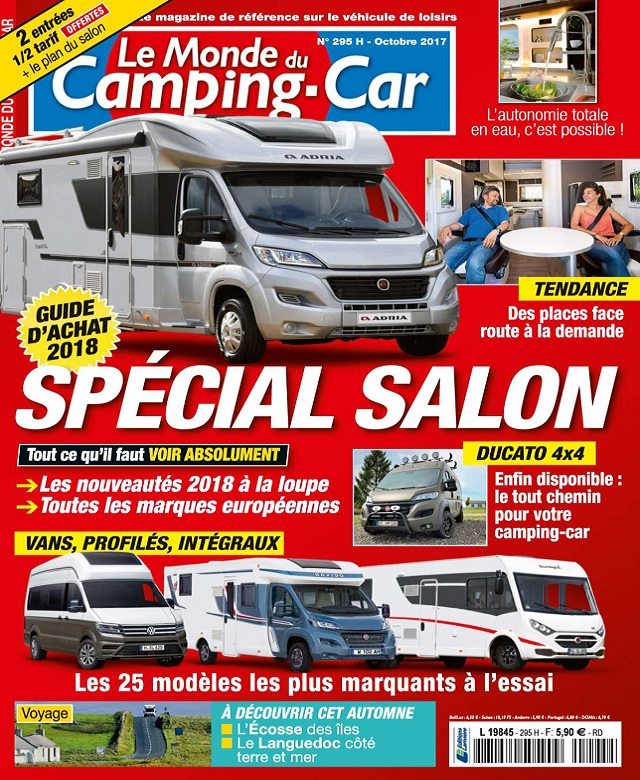 Le Monde Du Camping-Car N°295 - Octobre 2017