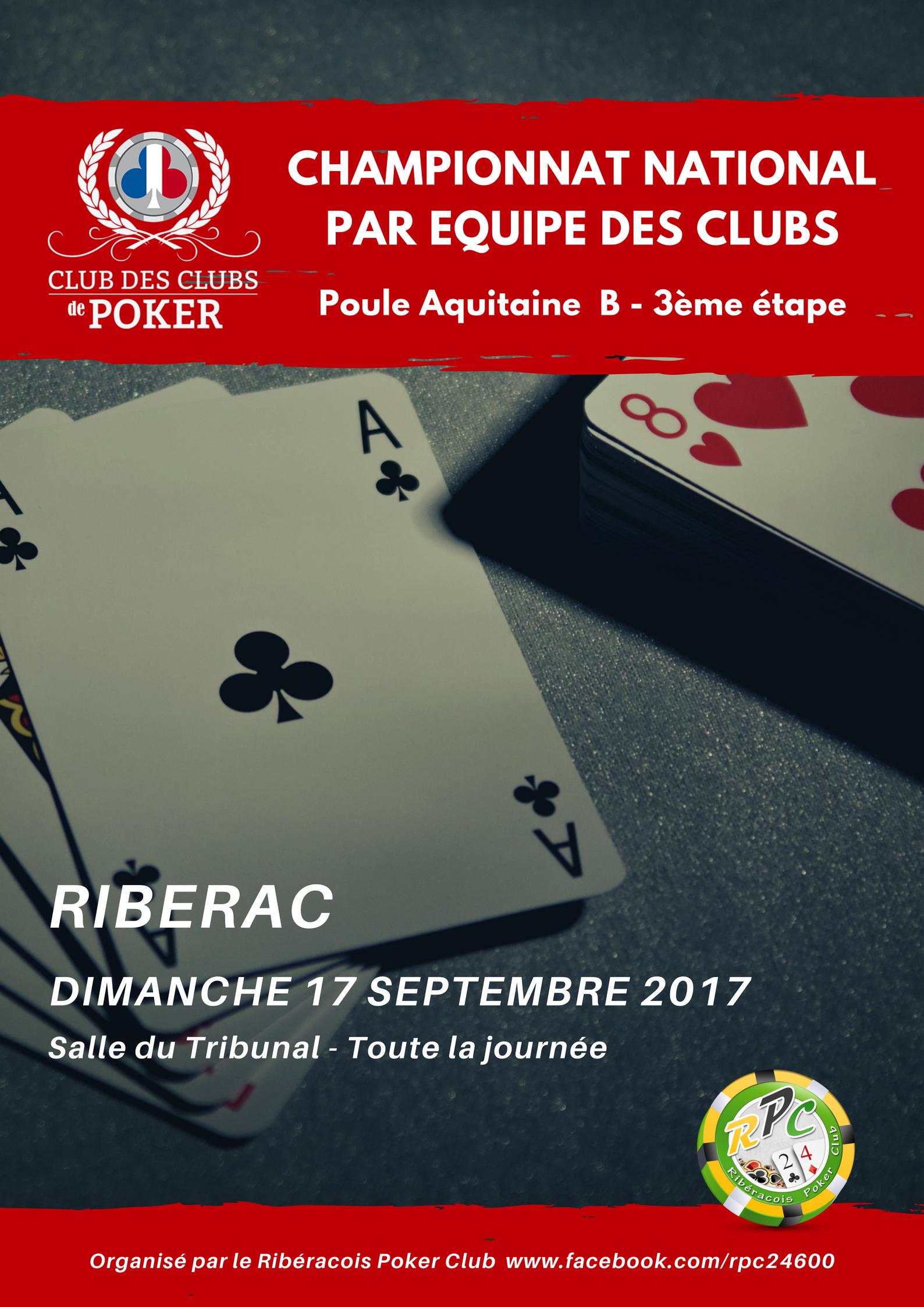 Ribérac Poker Etape CNEC