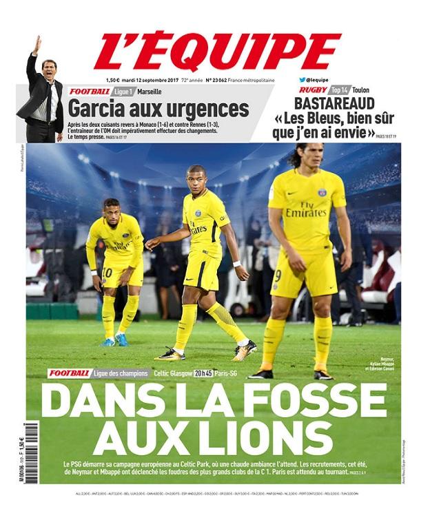 L'Equipe Du Mardi 12 Septembre 2017