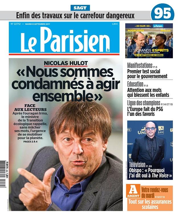 Le Parisien Du Mardi 12 Septembre 2017