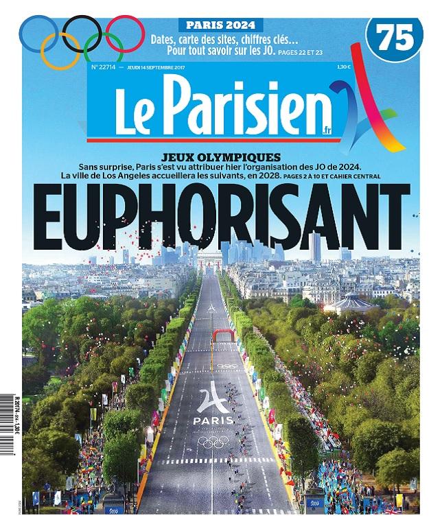 Le Parisien Du Jeudi 14 Septembre 2017
