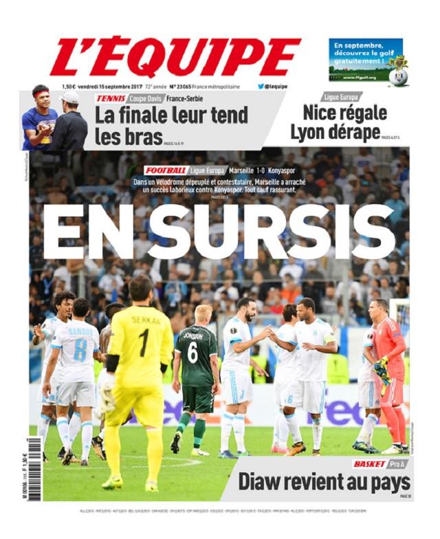 télécharger L'Equipe Du Vendredi 15 Septembre 2017