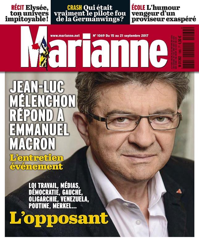 télécharger Marianne N°1069 Du 15 au 21 Septembre 2017