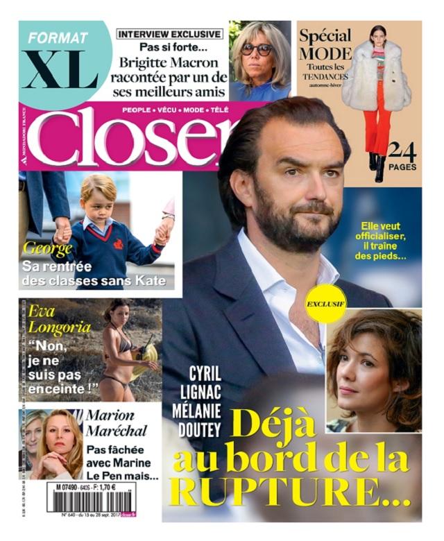 Closer N°640 Du 15 au 21 Septembre 2017