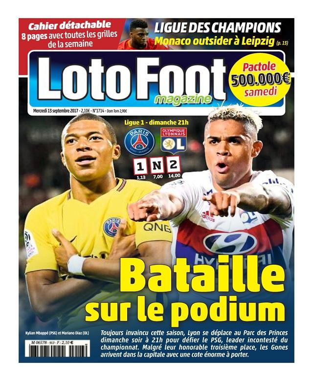 Loto Foot N°1714 Du 13 Septembre 2017