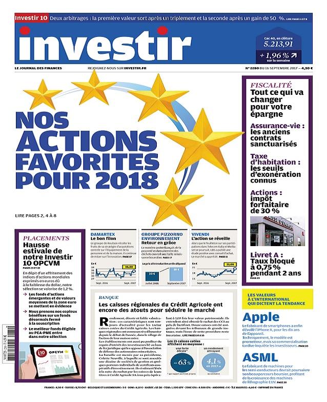 Investir N°2280 Du 16 Septembre 2017