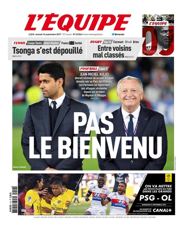 télécharger L'Equipe Du Samedi 16 Septembre 2017