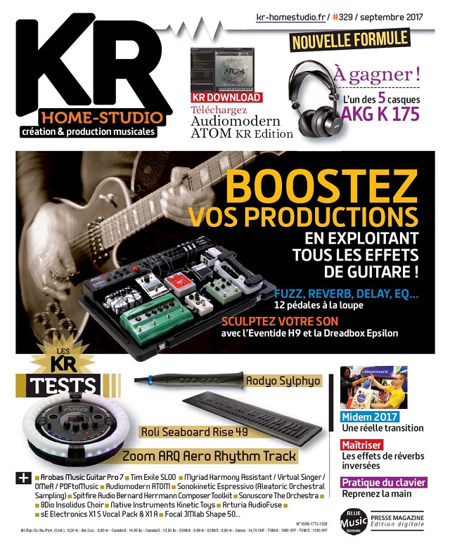 Keyboard Recording Home-Studio N°329 - Septembre 2017