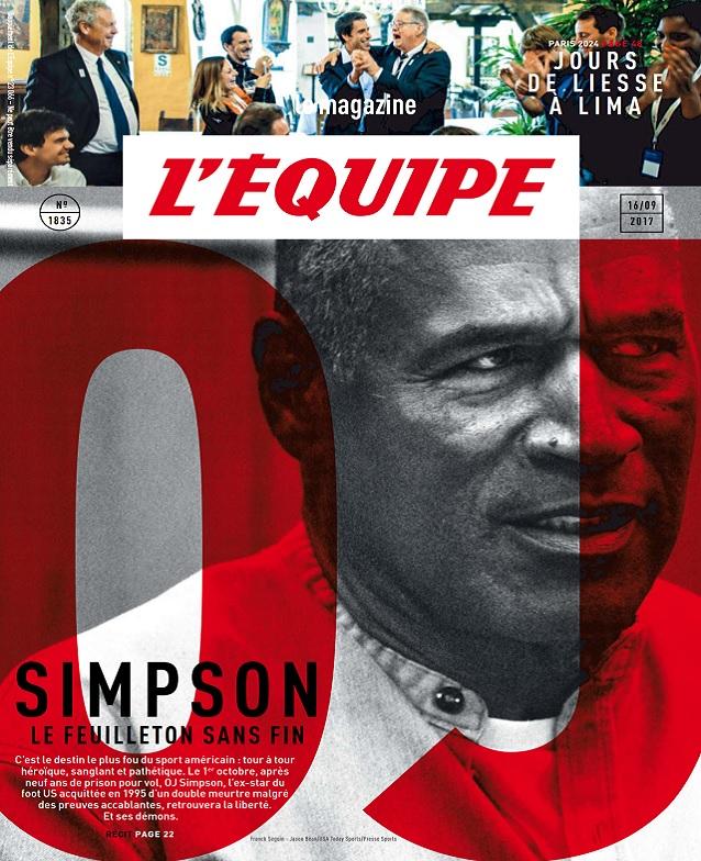 L'Equipe Magazine N°1835 Du 16 Septembre 2017