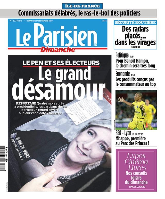 Le Parisien Du Dimanche 17 Septembre 2017