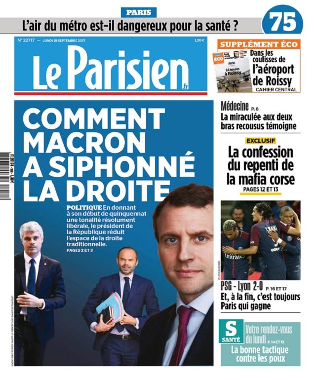 télécharger Le Parisien Du Lundi 18 Septembre 2017