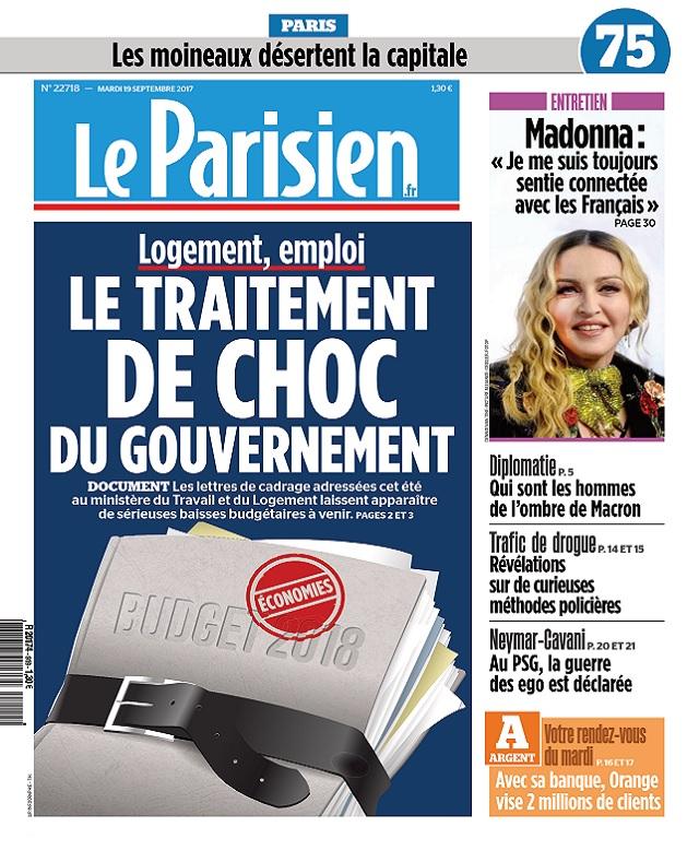 Le Parisien Du Mardi 19 Septembre 2017
