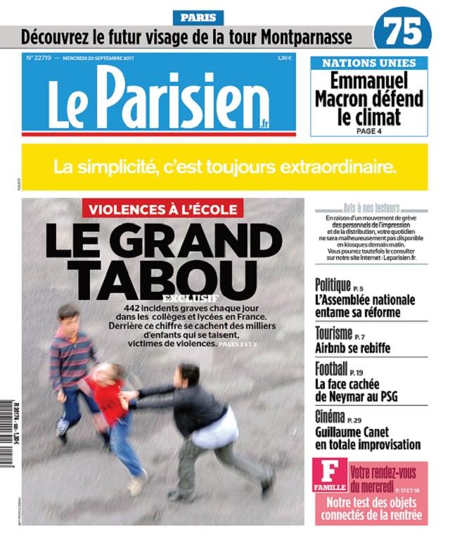 télécharger Le Parisien Du Mercredi 20 Septembre 2017