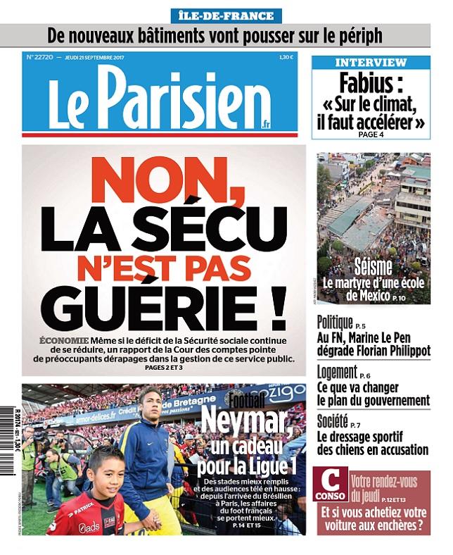 télécharger Le Parisien Du Jeudi 21 Septembre 2017