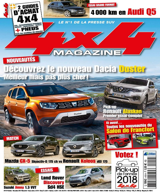 télécharger 4x4 Magazine N°419 - Octobre-Novembre 2017