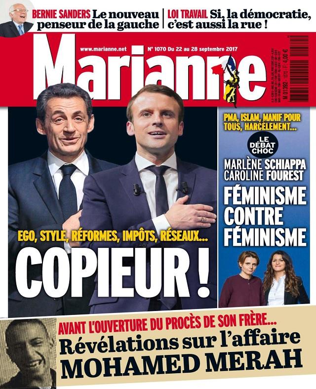 télécharger Marianne N°1070 Du 22 au 28 Septembre 2017