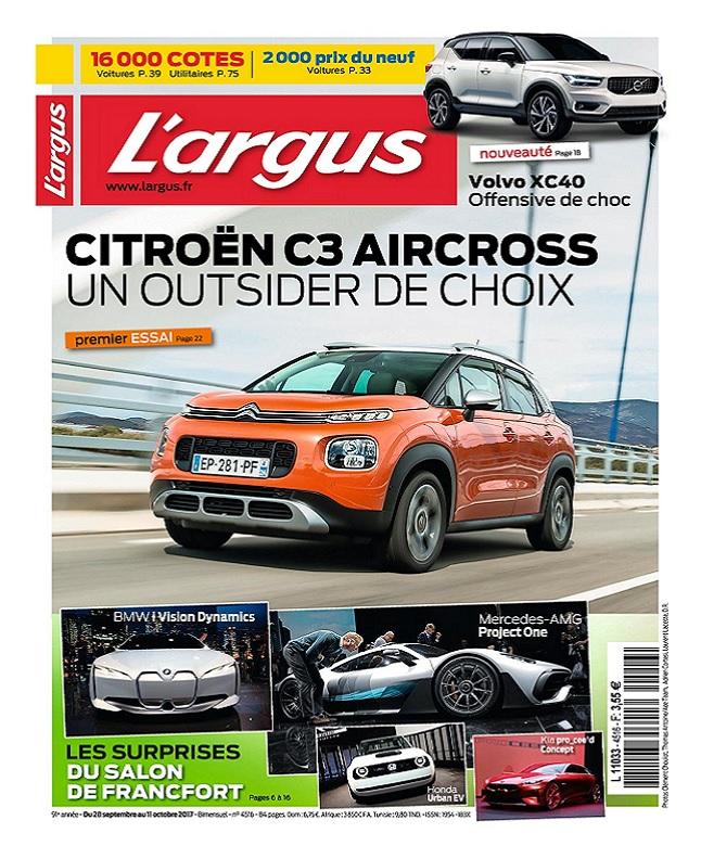 télécharger L'Argus N°4516 Du 28 Septembre au 11 Octobre 2017