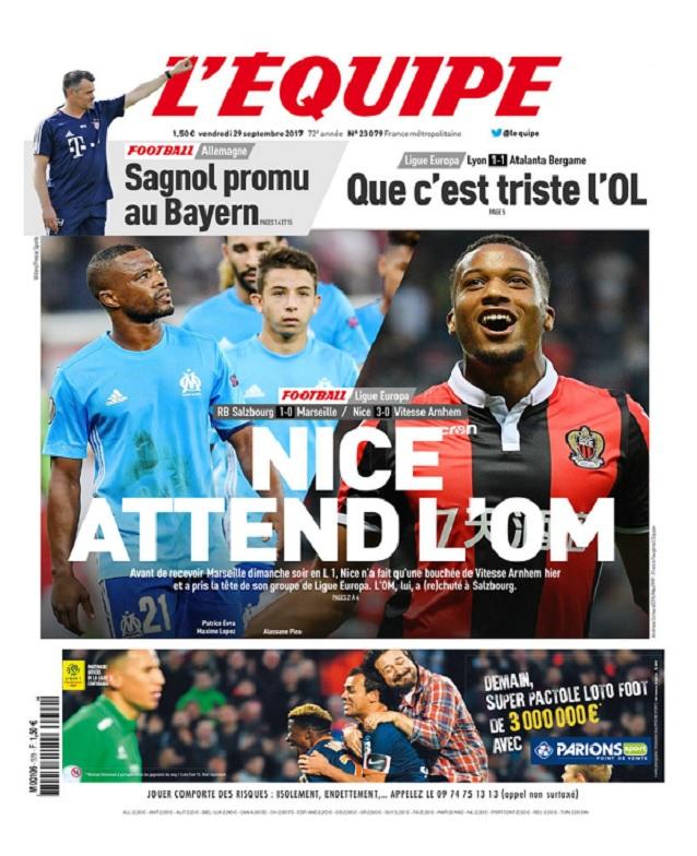 télécharger L'Equipe Du Vendredi 29 Septembre 2017