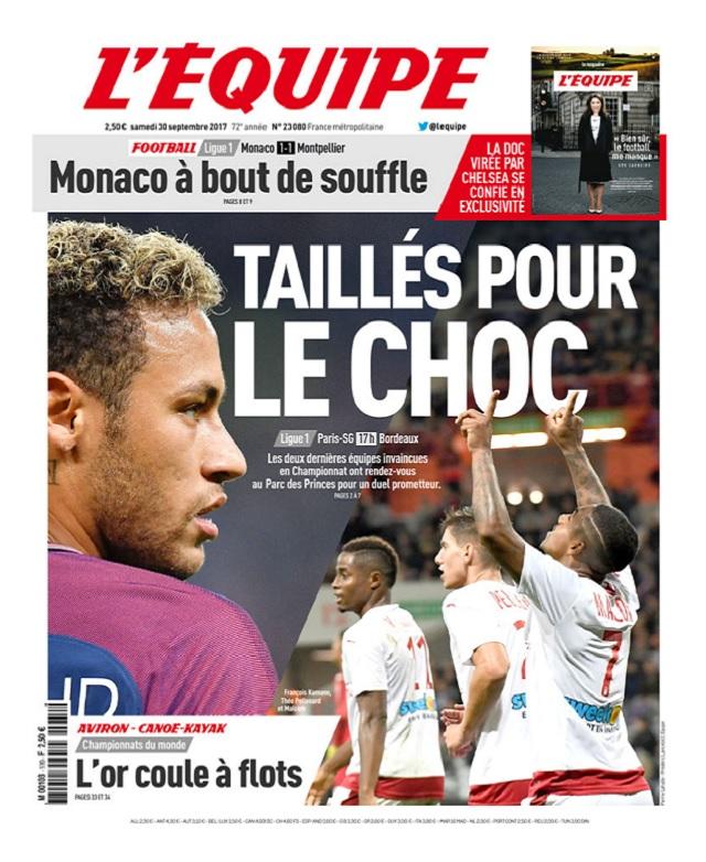 télécharger L'Equipe Du Samedi 30 Septembre 2017