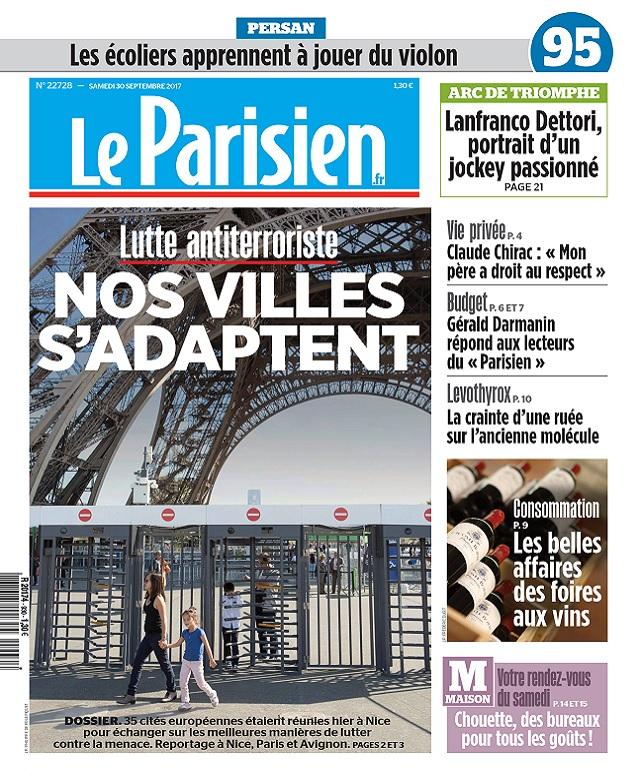 télécharger Le Parisien Du Samedi 30 Septembre 2017