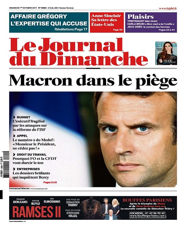 télécharger Le Journal Du Dimanche N°3690 Du 01 Octobre 2017