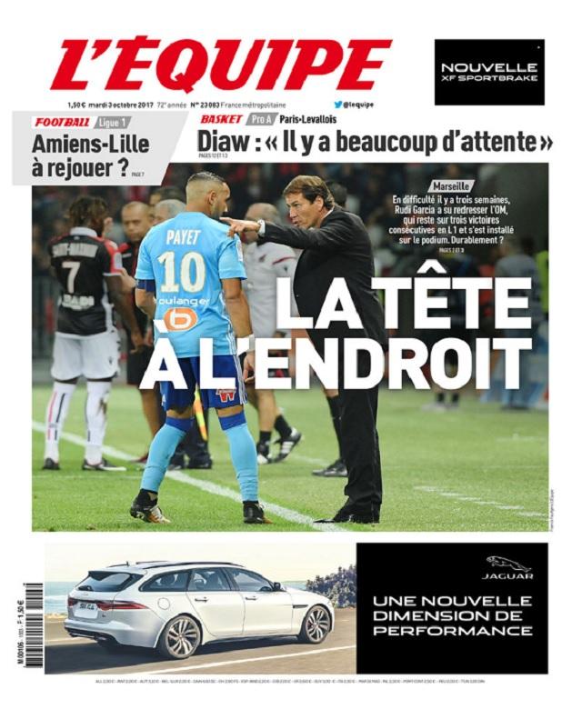 télécharger L'Equipe Du Mardi 3 Octobre 2017