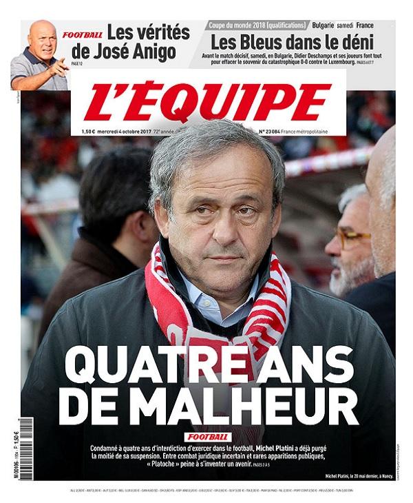 télécharger L'Equipe Du Mercredi 4 Octobre 2017