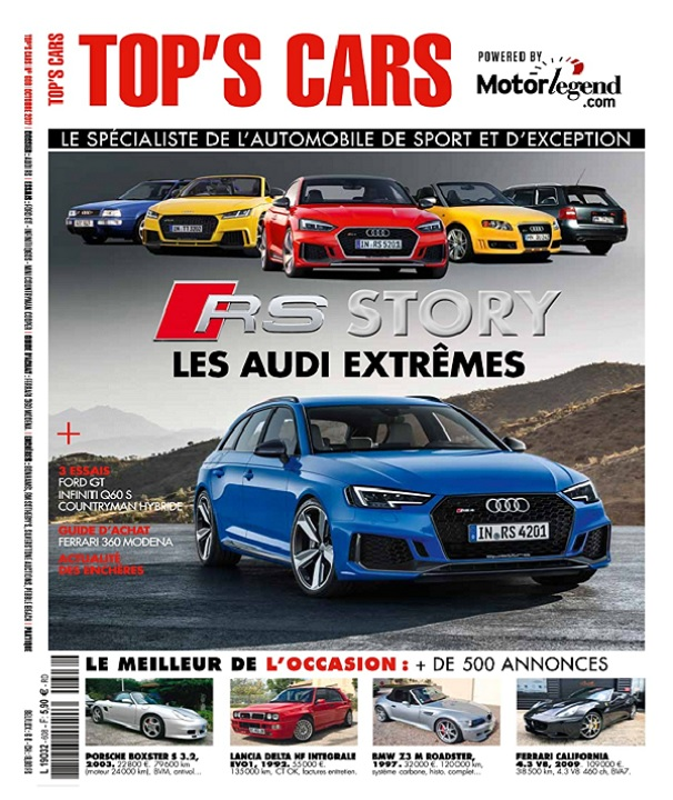 télécharger Top's Cars Magazine N°608 - Octobre 2017