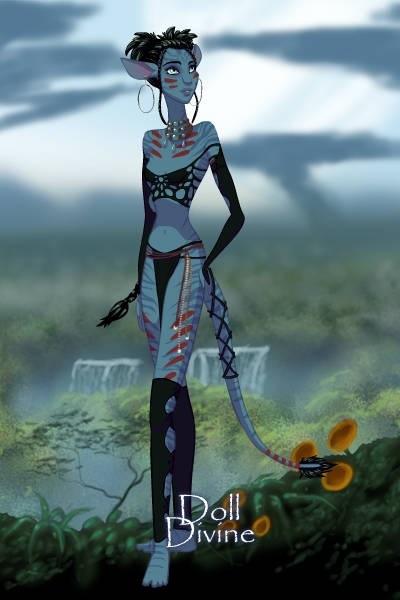 Nilya dans sa nouvelle tenue guerrière