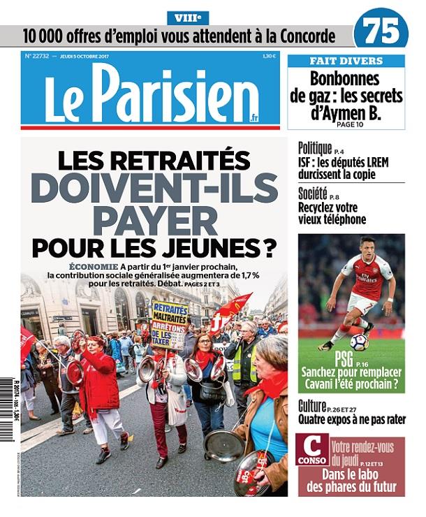 télécharger Le Parisien Du Jeudi 5 Octobre 2017
