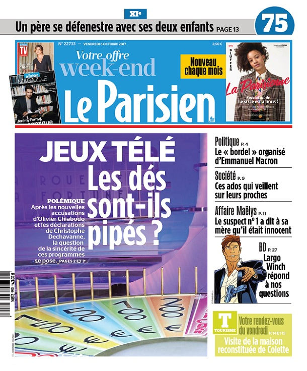 télécharger Le Parisien Du Vendredi 6 Octobre 2017