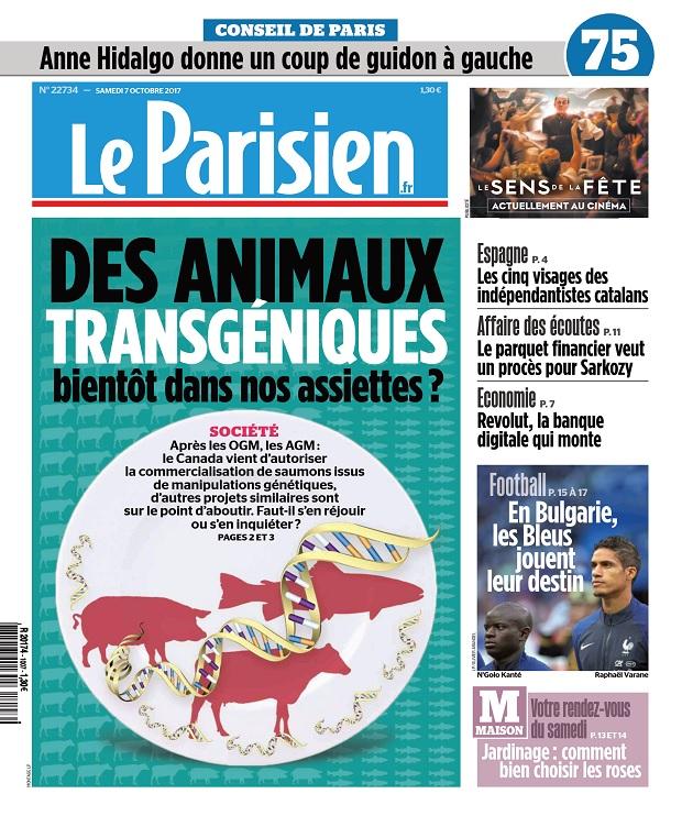 Le Parisien Du Samedi 7 Octobre 2017