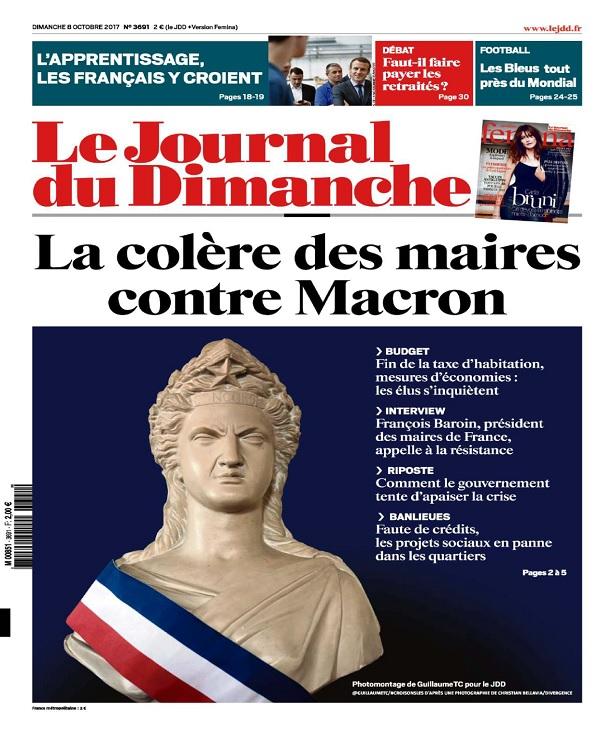 télécharger Le Journal Du Dimanche N°3691 Du 8 Octobre 2017